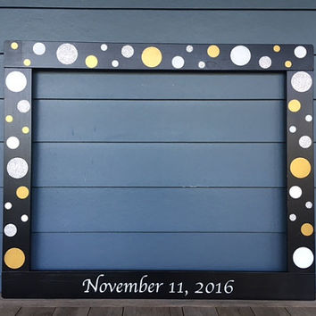 Anniversary Photobooth Frame Prop - Wood Frame Prop - Bridal Shower Photo Booth - Wedding Photo Booth - Photobooth - Birthday Photobooth -