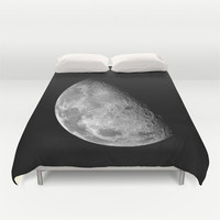 Moon Duvet Cover, Moon Bedding Cover, Outer Space Bedroom Decor, Home Decor, King, Queen, Full