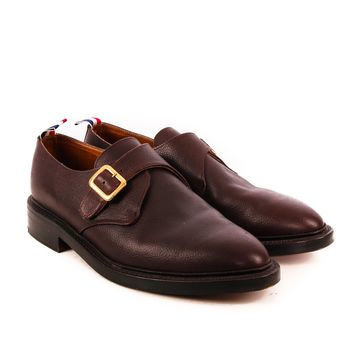 Thom Browne Oxblood Monk Strap Shoes