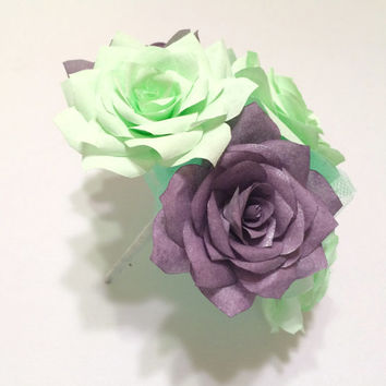 Paper Rose bouquet in colors of your choice, Cake flower bouquet topper, Baby Shower floral decor, Home decor centerpiece flower bouquet