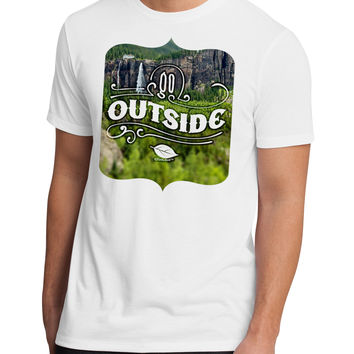 Go Outside - Beautiful Cliffs Men's Sublimate Tee by