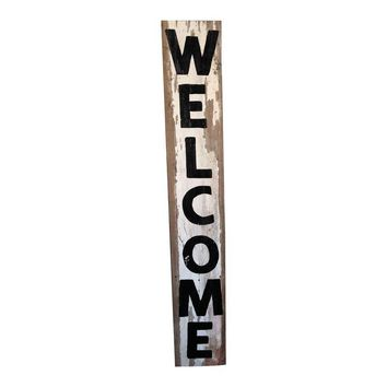 Pre-owned Vintage Reclaimed Wood Welcome Sign