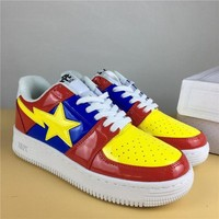DCCK Foot Soldier BAPE STA Red-Blue/Yellow Sneaker Shoe 36-45