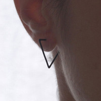 Black Triangle Hood Earrings