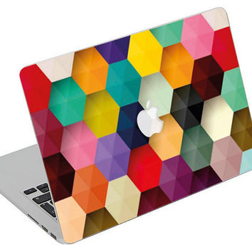 Stickers Macbook Decal Skin Macbook Air Skin Pro Skins Retina Cover Paint Colors Picture Christmas Gift New Year ( rm36)