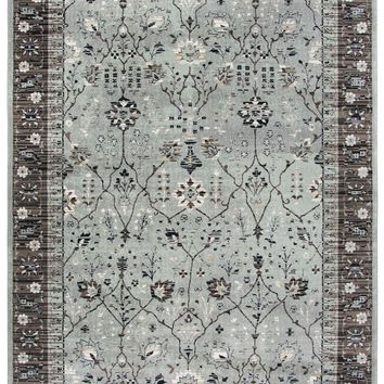 Rizzy Home Zenith ZH7087 Sage Green Motif Area Rug