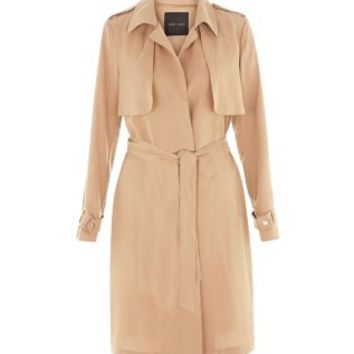 Camel Drape Trench Coat