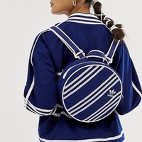 adidas Originals x Ji Won Choi three stripe backpack in navy