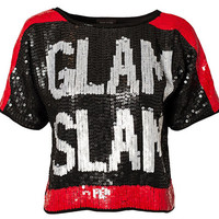 Sequin T-Shirt Glam Slam, River Island