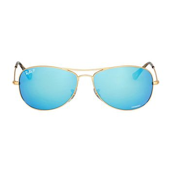 Cheap Ray Ban Chromance Metal Frame Blue Lens Sunglasses RB3562 outlet