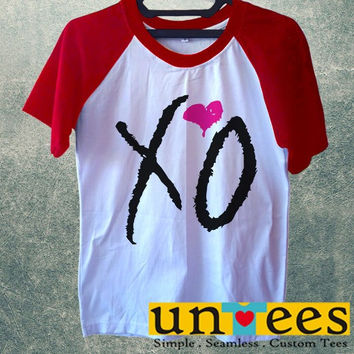 Women's Short Sleeve Raglan Baseball T-shirt - XO Drake Beyonce The Weekend Fresh Lil Wayne design