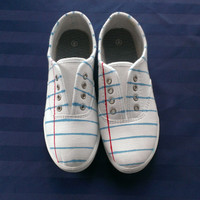 Notebook Paper Graphic© Shoes - Fun Canvas Shoes For Students and Teachers!