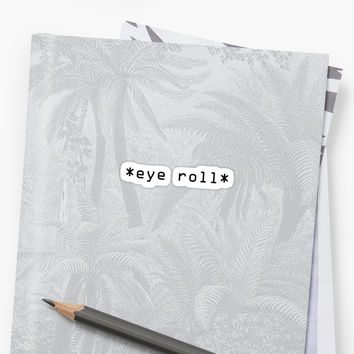'Eye Roll' Sticker by ellystrueber
