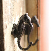 Cast Iron Sea Horse Hook