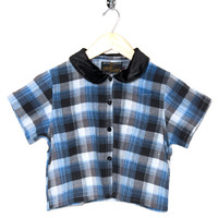 Motel Vintage Andy Blouse Full Check 0023 ONE SIZE