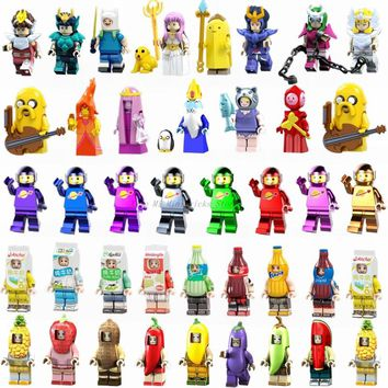 Legoing Super Heroes Figures Adventure Time Jack Bubble Princess Athena Seiya Japanese Original Anime Building Blocks Toys Doll
