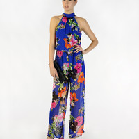 Dress Me In Florals Jumpsuit - Clothing
