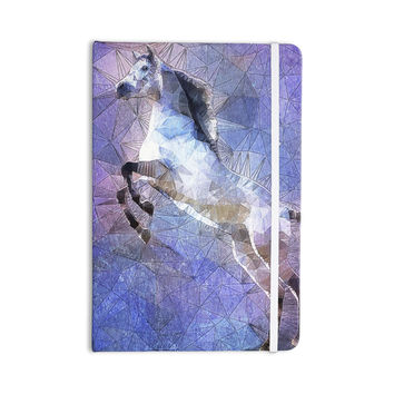 "Ancello ""Abstract Horse"" Purple Blue Everything Notebook"