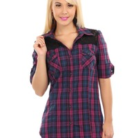 Plaid Vibrant Button Down Shirt