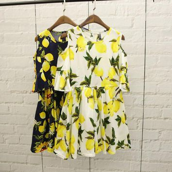 Day-First™ Summer Stylish Fruit Pattern Printed Dress