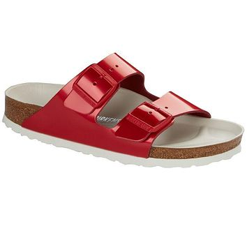 Birkenstock Arizona Leather Spectacular Lollipop Red 1012383 Sandals