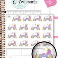 Lazy Day Stickers Not Today Stickers Unicorn Stickers Kawaii Stickers Planner Stickers Cute Stickers Erin Condren Functional Stickers NR1581