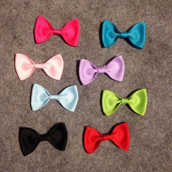 Add a bow to any animal headband Ribbon Bow Any Color pink red light blue turquoise purple black lime green polka dot