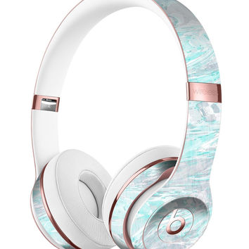 Teal Slate Marble Surface V39 Full-Body Skin Kit for the Beats by Dre Solo 3 Wireless Headphones