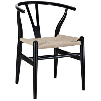 LexMod C24 Wishbone Chair, Black