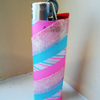 "washi tape lighter ""cotton candy swirl"""