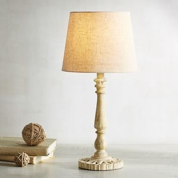 Yvette Wooden Accent Lamp