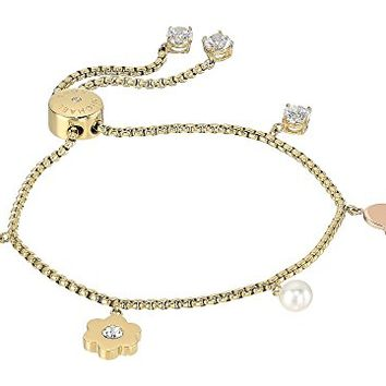 Michael Kors In Full Bloom Multi Charm Slider Bracelet