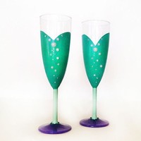 Part of Your World Champagne Glasses - set of 2