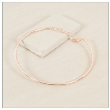 Completely Charming Rose Gold Collar Necklace