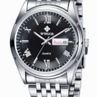 Men's Watch Date Day Stainless Steel Relojes Luminous