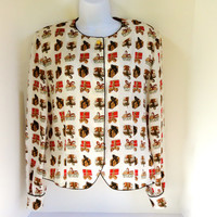 Silk Christmas Blouse by Maggy London