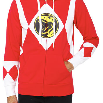 Mighty Morphin Power Rangers Red Ranger Zip Hoodie | Hot Topic