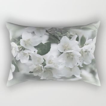 White Noise Rectangular Pillow by Theresa Campbell D'August Art