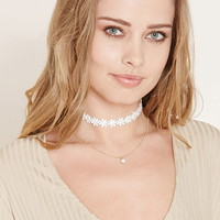 Layered Daisy Choker Necklace