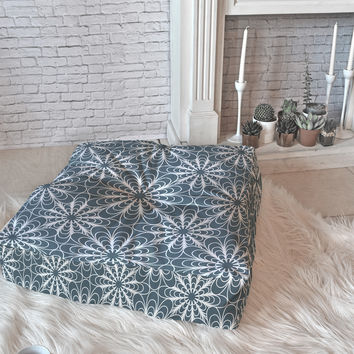 Heather Dutton Flora Midnight Floor Pillow Square