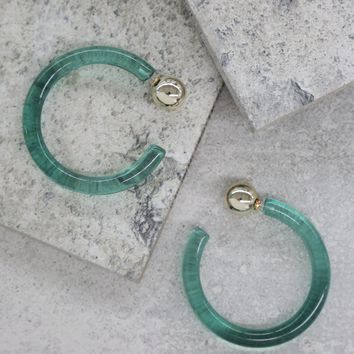 Scorpio Hoops in Turquoise and Gold