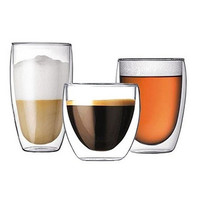 Double-deck Glass Cup Beer Coffee Cup Cold Drink Cup [8833995084]