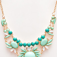 Charade Necklace - Teal - One
