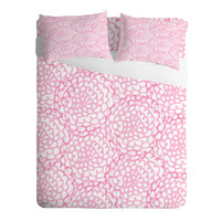Julia Da Rocha Bed Of Pink Roses Sheet Set