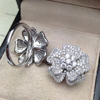 Shiny Stylish Jewelry Gift New Arrival Korean Floral Ring [4989655812]