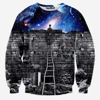 "Over the Wall Into Space Skate Sweater ""The Beginning Is Near"""