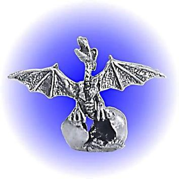 Dragon Wing Hatch Egg Pewter Figurine  Lead Free