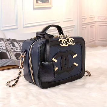 shosouvenir : CHANEL Women Shopping Bag Leather Satchel Tote Handbag Shoulder Bag