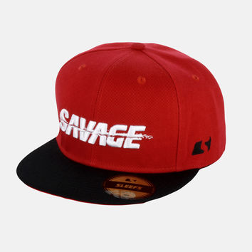 SLEEFS Savage Red Snapback Hat