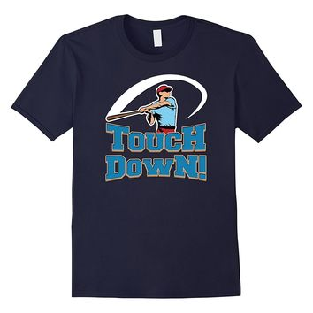 Touchdown! Funny Baseball Football T-shirt by Zany Brainy